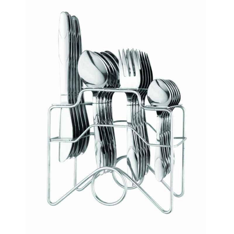 Elegante 24 Pieces Zenith Mountain Stainless Steel Cutlery Set, SL-131