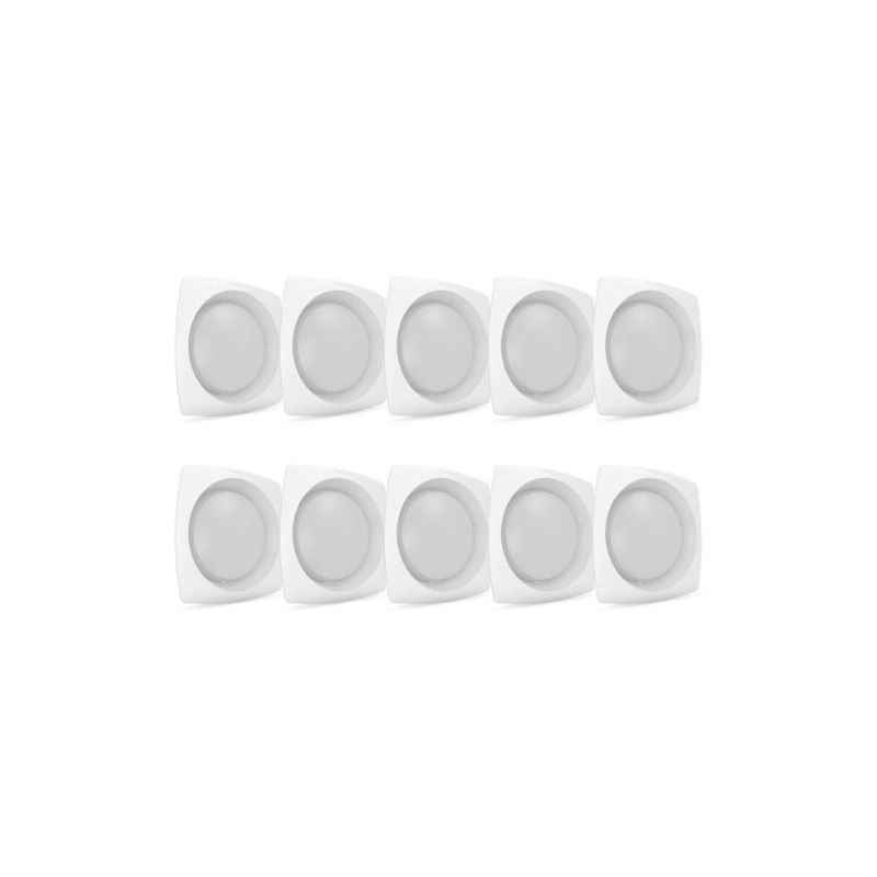 Corvi Flat 4Q 6W Warm White Dimmable LED Panel Light (Pack of 10)