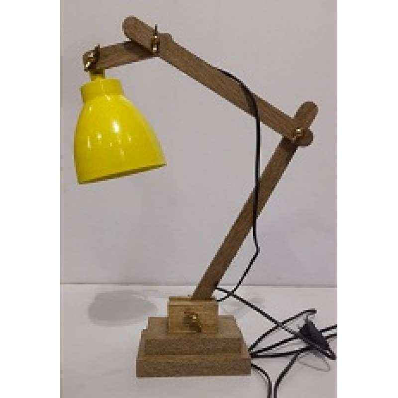 The Brighter Side Himaliya Sky Blue Wooden Table Lamp