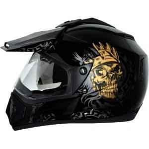 Vega Off Road Ranger Motocross Golden Black Helmet, Size (Large, 600 mm)