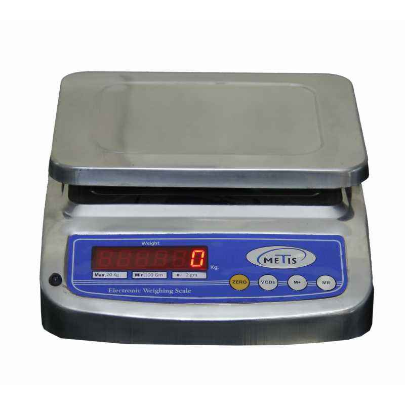 Metis 20kg and 1g Accuracy Stainless Steel Counter Weighing Machine