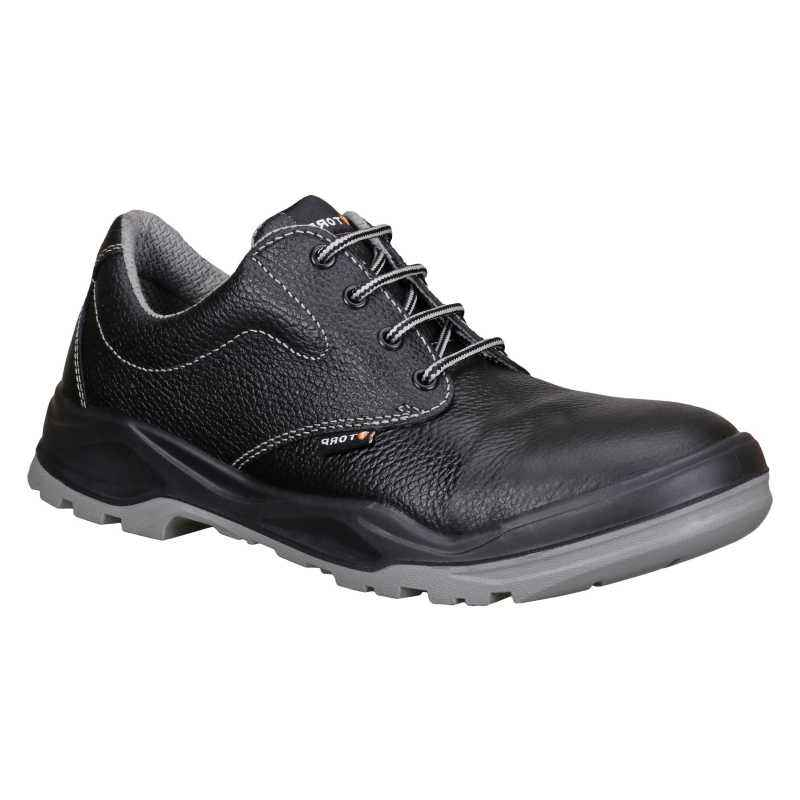 Torp BEN-09 Derby Leather Steel Toe Black Safety Shoes, Size: 10
