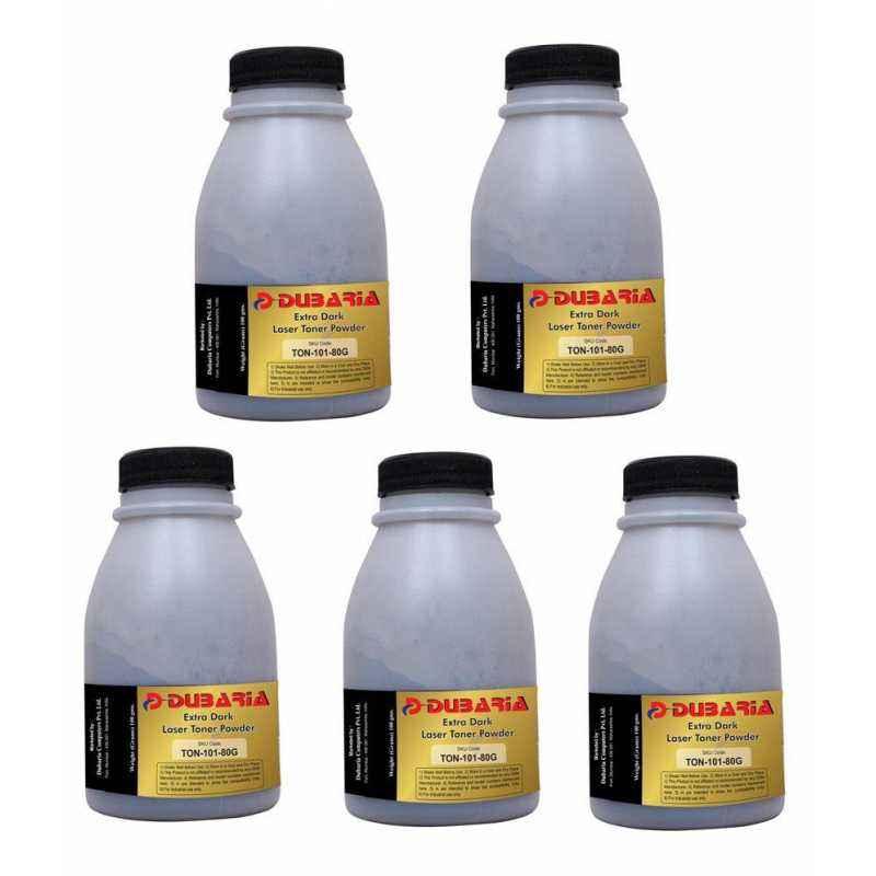 Dubaria Extra Dark Powder Toner Cartridge For Samsung Printers (Pack of 5)