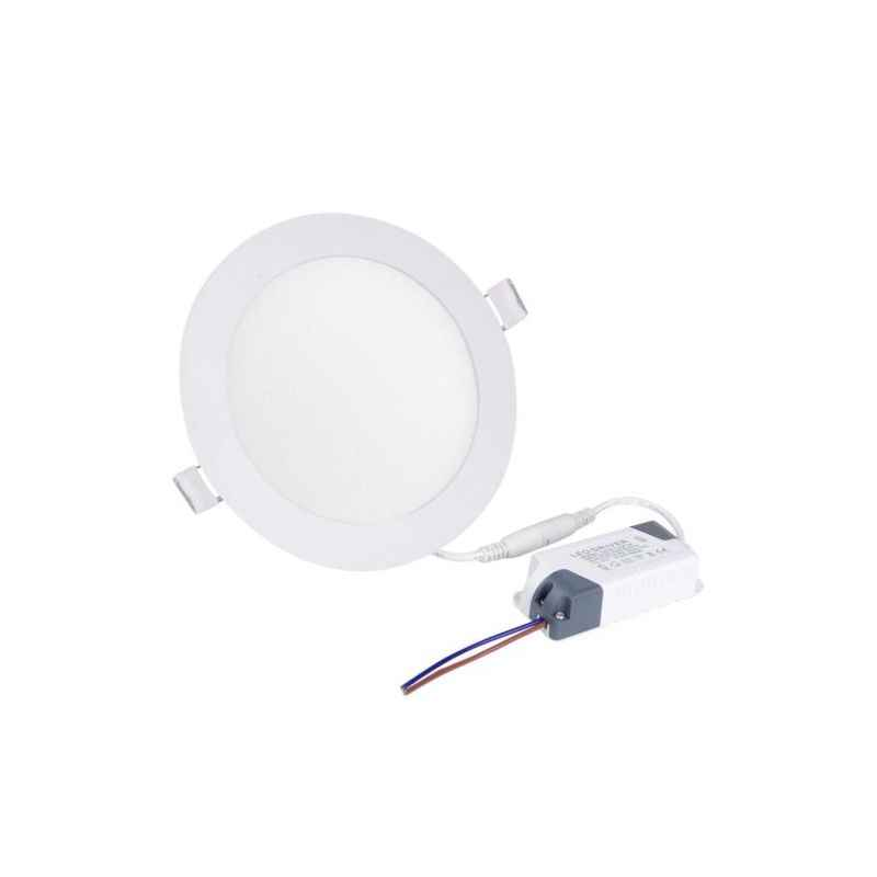 EGK 6W Warm White Round LED Panel Light with Driver (Pack of 4)