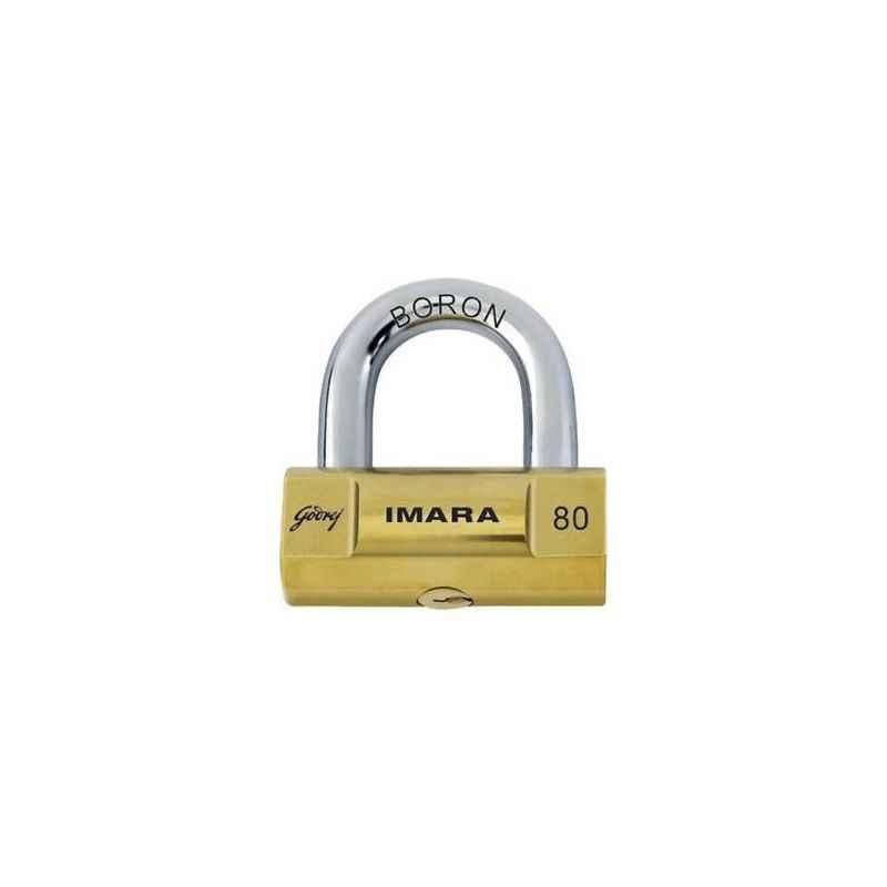 Godrej Imara 80mm Premium Padlocks with 3 Keys, 6248