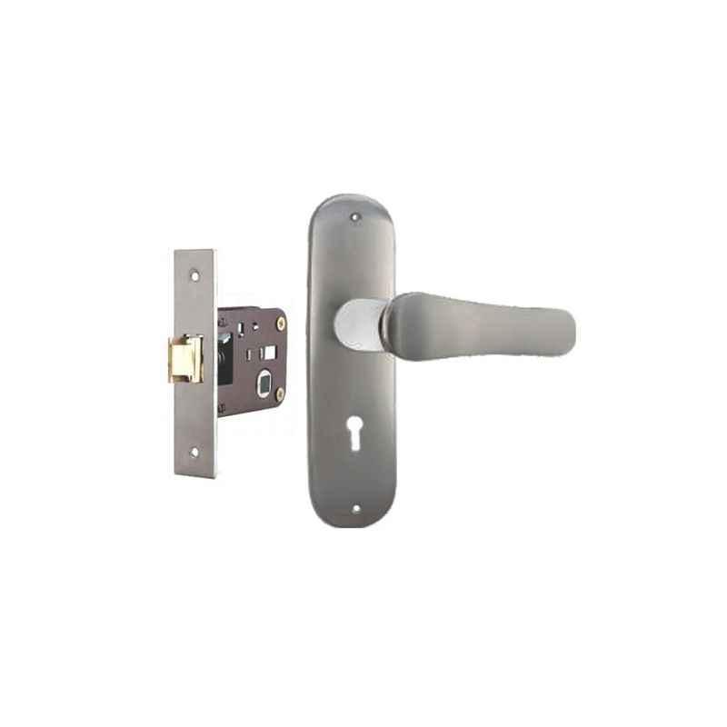 Plaza Salora Stainless Steel Finish Handle with 200mm Baby Latch Keyless Lock