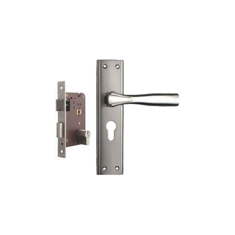 Plaza Spark Stainless Steel Finish Handle with 200mm Pin Cylinder Mortice Lock & 3 Keys