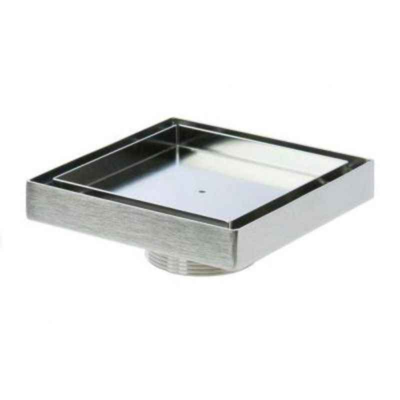 Kamal 5x5 Inch SS Floor Tile Grating with Cockroach Bowl, GRT-1449