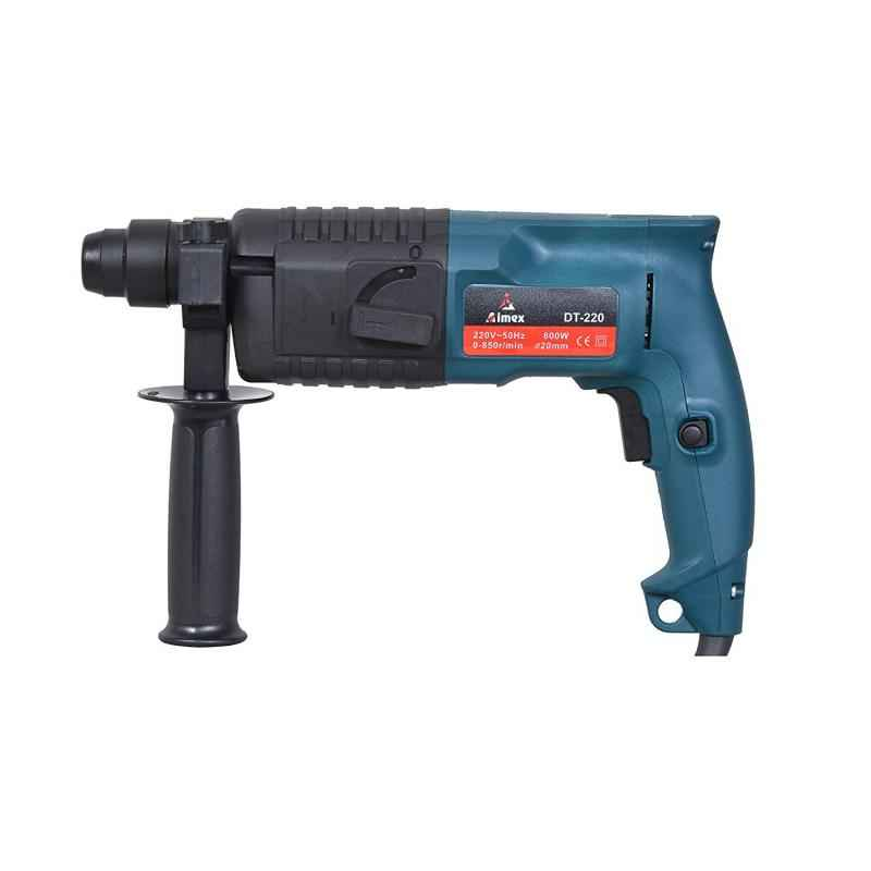 Aimex DT-220 20mm 800W Heavy Duty Reversible Rotary Hammer with 3 Pcs Drill Bits