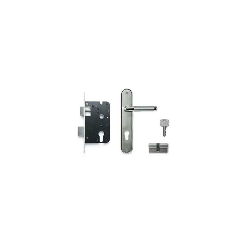 Godrej Oliver 190mm 2C Door Handle with Lock Set, 8837