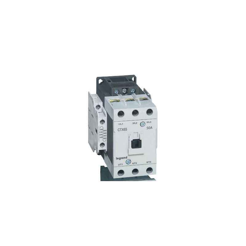 Legrand 3 Pole Contactors CTX³ 65 Cage Terminal Integrated Auxiliary Contacts 2 NO + 2 NC, 4161 59