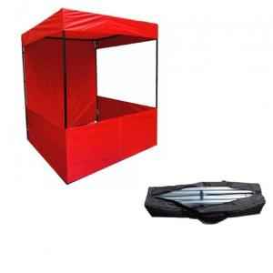 PSJ Red Promotional Canopy with Free Carrying Bag, 214x183x183 cm