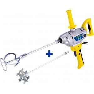 Pro Tools 140mm 1050W Paint/Putty Mixer with 2 Rod, 1016 A