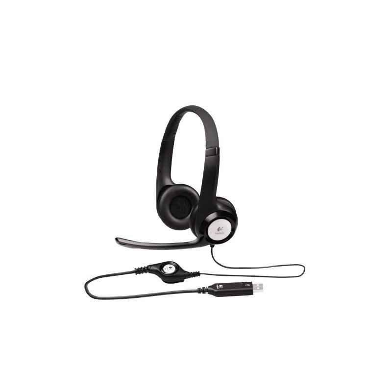 Logitech H390 Black USB On-Ear Headset
