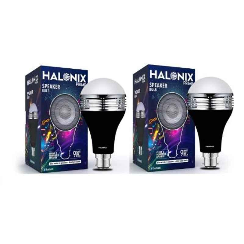 Halonix Prime 9W B22 Cool Day White LED Bulb with Bluetooth Speaker, HLNX-SPKR-9WB22 (Pack of 2)