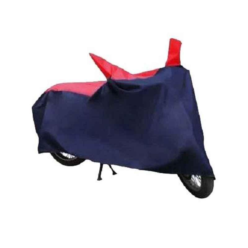 Love4Ride Red & Blue Two Wheeler Cover for TVS Phoenix