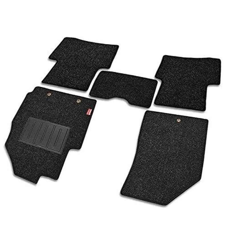 Elegant Carry 5 Pcs Polypropylene Black Carpet Car Floor Mat Set for Nissan Evalia