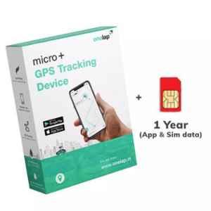 Onelap India Micro Plus GPS Tracking Device with 1 Year App Subscription & Sim Data