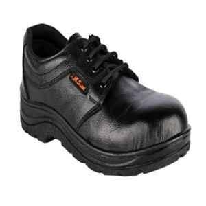 JK Steel JKPSF132BLK Leather Steel Toe Black Safety Shoe, Size: 6