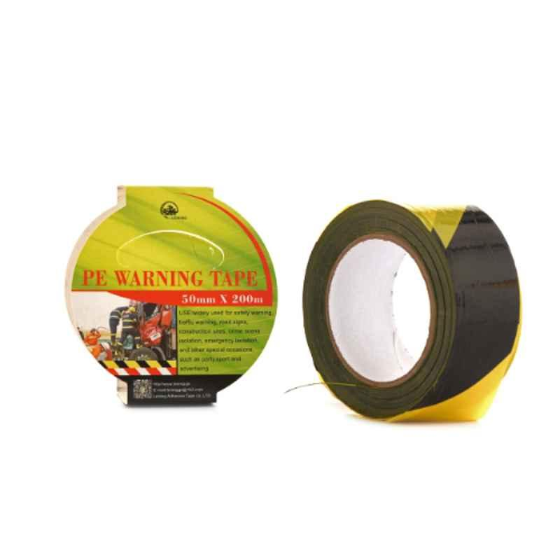 Darit ES-22 50mm Yellow & Black Polyethene Non Adhesive Warning Tape, Length: 200 m