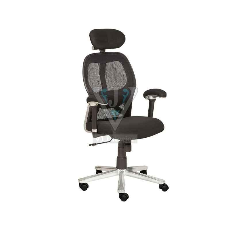 VJ Interior 18x18 inch Office Mesh Chair With Ss Finish, VJ-1630