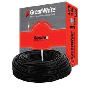 GreatWhite 1 Sqmm 90m Black Single Core FR-PVC Insulated Industrial Cable