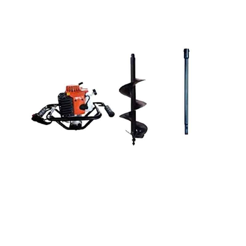 Kanak 2.5kW 82CC Heavy Duty Drill Hole Earth Auger with 10 inch Drill & 3.25ft Extension Rod