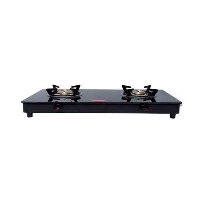 Good Flame Eco Slim 2 Burners Manual Ignition Glass Gas Stove, GF033