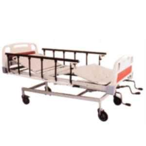 Aar Kay 210x90cm Mechanically ICU Bed with ABS Panels, Side Railings & Adjustable Height