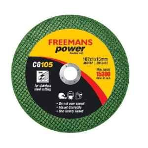 Freemans Power 4 inch Green Double Net Inox Cut Off Wheel, CG105 (Pack of 50)