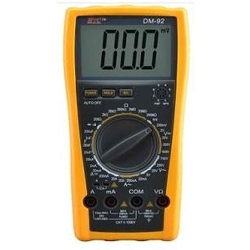 HTC DM-92 Digital Multimeter AC Voltage Range 0 to 750V DM to 92