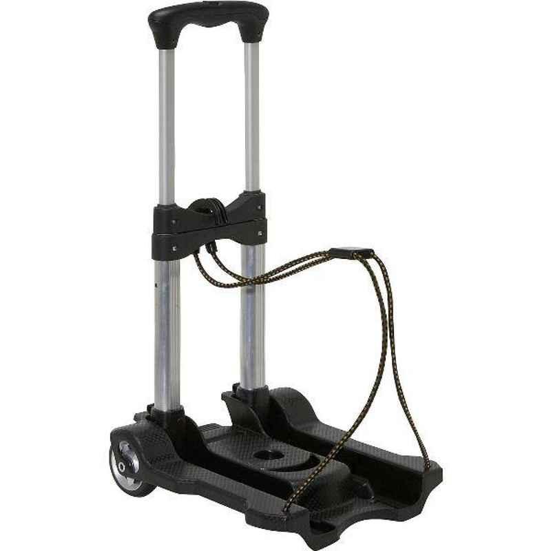 Bigapple 40kg Aluminium Alloy Grey & Black Foldable Luggage Trolley with 2 Wheels, TRL-SPL-AL-40