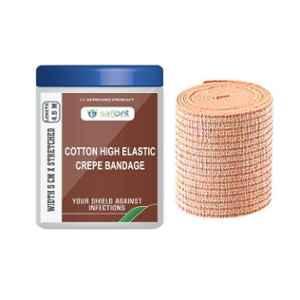 Safent 2 inch 5cmx4.5m Cotton High Elastic Crepe Bandages, SAFE0057