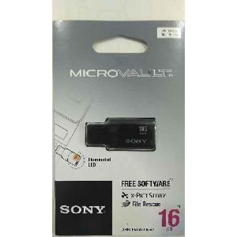 Sony Pendrive 16Gb Illuminated Led Black 2 Years Warranty