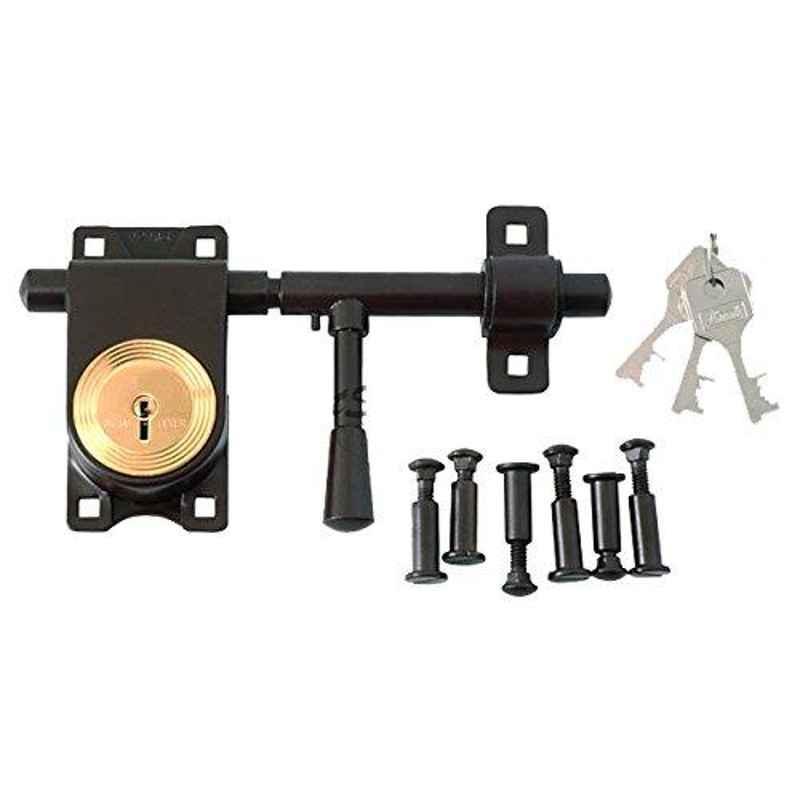 Smart Shophar 8 Inch 3 Keys & 6 Bolt Link Rod Lock Brown Aldrop, L08-LRLS-08