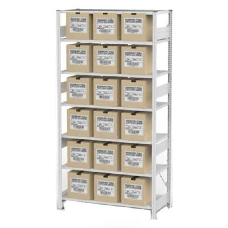 Godrej Altius Lite 1000x500x2200mm Steel Light Grey Storage Rack with 5 Layers
