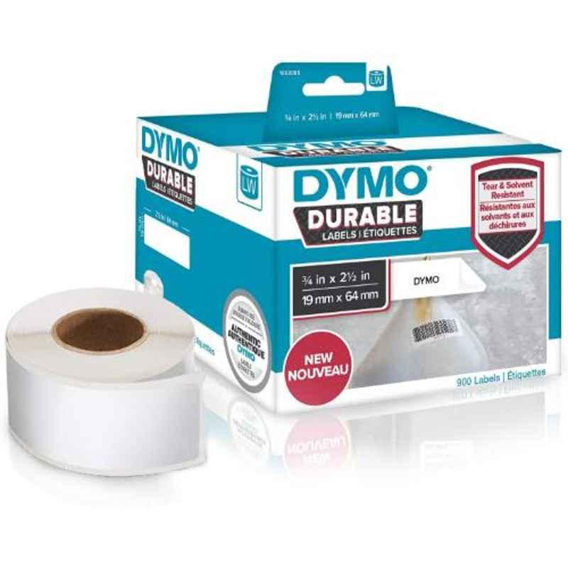 Dymo 1933085 0.75x2.5 inch White Polypropylene Direct Thermal Label Writer Roll, Capacity: 900 Labels