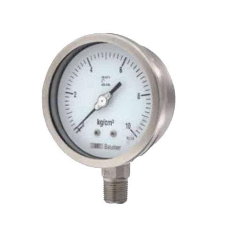 SFI 0-1000psi BSP & NPT Mild Steel Case & Brass Part BACK Pneumatic Pressure Guage, Dial Size: 2.1/2 inch, Thread Size: 1/4 inch