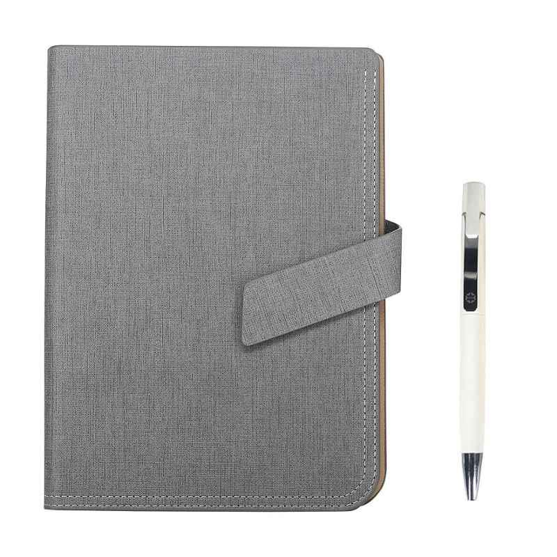 Stolt Ace PU Leather Grey Cover Business Diary with Pen