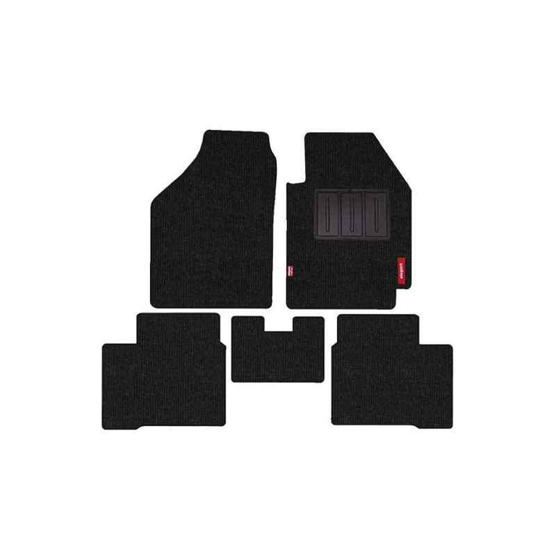 Elegant Carry 5 Pcs Polypropylene Black 2D Car Floor Mat Set for Hyundai Creta (2018)