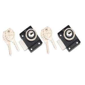 Smart Shophar 20mm Zinc Black Gold Epigone Multipurpose Lock, SLK28MP-EPIG-BL-P2 (Pack of 2)