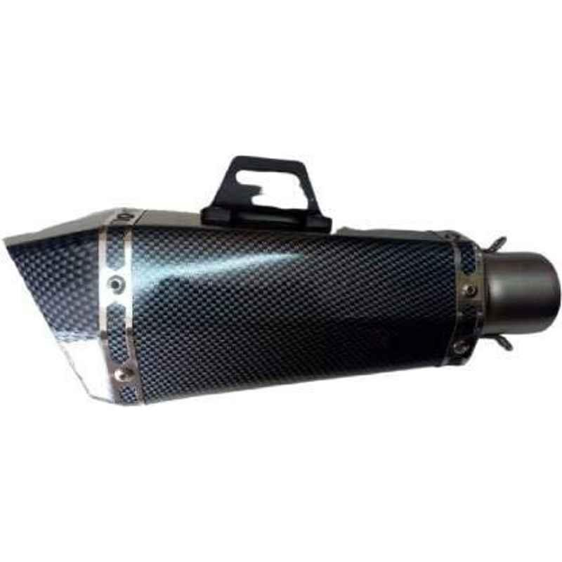 RA Accessories Black Wide Mouth Printed Silencer Exhaust for Bajaj Discover 135