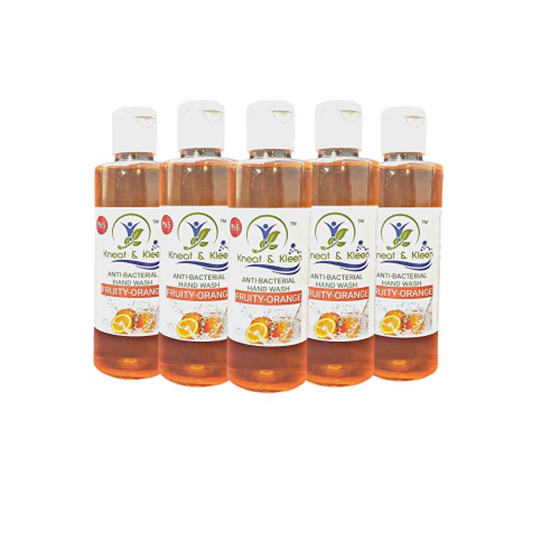 Kneat & Kleen 200ml Orange Anti-Bacterial Hand Wash (Pack of 5)