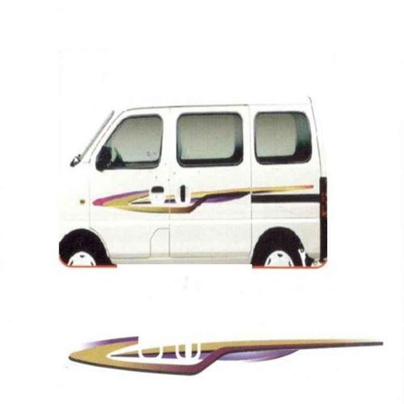Galio Purple & Maroon Graphics Car Sticker Set for Maruti Suzuki Eeco, GL-173P