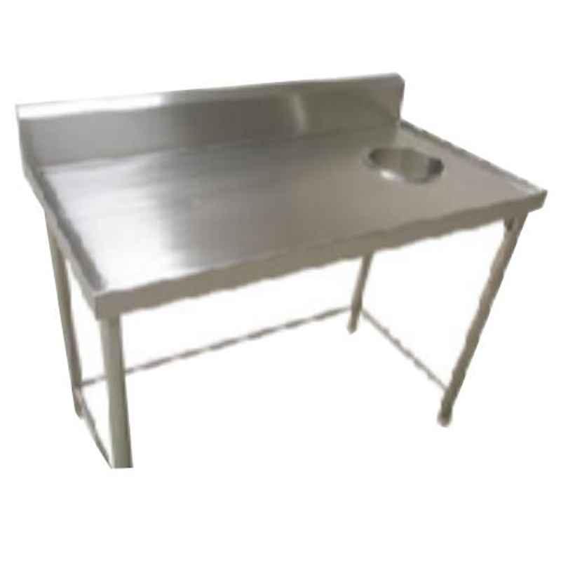 Star Fabricator 1200x600x850+100cm Dish Landing Table with Garbage Shoot Top