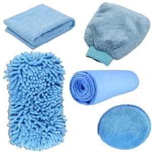 AllExtreme AEFLD15 7 Pcs 7 in 1 Car Wash Microfiber Essentials Kit