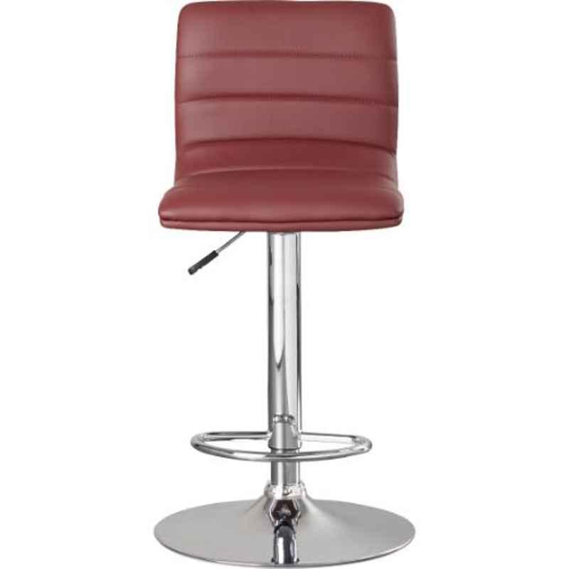 Steelcraft KBSTM12 Maroon Leatherette Upholstery Seat Bar Stool
