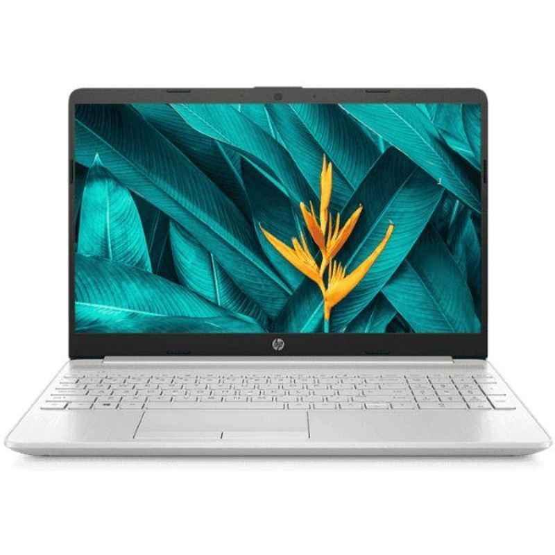 HP 15S-DR1000TX Intel i5/8GB DDR4 RAM/1TB HDD/256GB SSD/15.6 inch Display Natural Silver Laptop, 8LW48PA