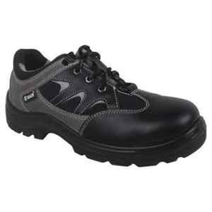 Zain Zm-Dexter Leather Steel Toe Grey Sporty Safety Shoes, 82333-09, Size: 9