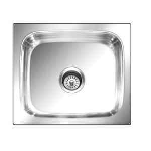 Nirali Grace Plain Anti Scratch Finish Kitchen Sink, Bowl Size: 560x410x215 mm